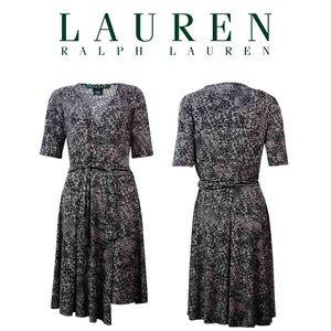 Lauren Ralph Lauren Women's Jersey Wrap Dress SZ 4